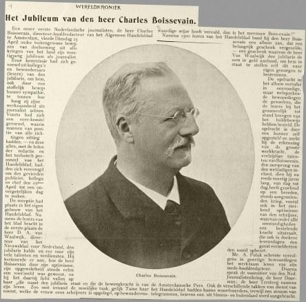 Charles Boissevain Handelsblad