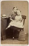 Portret van Daan en Kiek Boissevain, archief familie Boissevain, 1862–1867